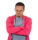 Angry grumpy man Stock Images