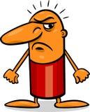 Angry guy cartoon illustration Royalty Free Stock Photos
