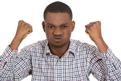Angry guy, fists up Royalty Free Stock Photos
