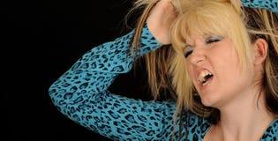 angry hair pulling woman Στοκ Εικόνα