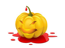 Angry Halloween. Angry pumpkin is shown in the image Stock Image