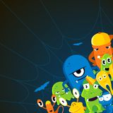 Angry halloween monsters. Cartoon vector background Royalty Free Stock Image