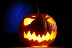 Angry halloween pumpkin Stock Images