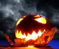 Angry halloween pumpkin Royalty Free Stock Photography
