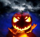 Angry halloween pumpkin Royalty Free Stock Photo