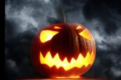 Angry halloween pumpkin Stock Photo