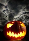 Angry halloween pumpkin Stock Photos