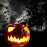 Angry halloween pumpkin Royalty Free Stock Photos