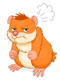 Angry hamster Royalty Free Stock Photos