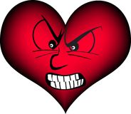 Angry heart Stock Photography