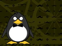 Angry Hipster penguin baby cartoon expression background. Cute little hipster penguin baby cartoon expression background in vector format very easy to edit vector illustration