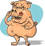 Angry Hog. This is an image of an angry hog.  Don't call him pork Stock Photo