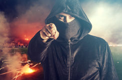 Angry hooligan Stock Photo