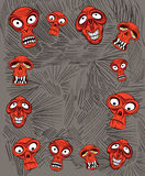 Angry horror skulls on the background Royalty Free Stock Images