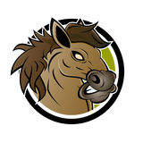 Angry horse sign Royalty Free Stock Images
