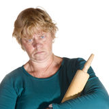 Angry housewife Royalty Free Stock Images