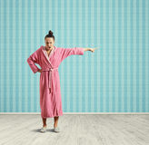 Angry housewife standing Royalty Free Stock Image