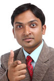 Angry Indian businessman Stock Images