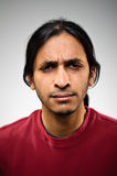 Angry Indian ethnic man portrait Royalty Free Stock Image