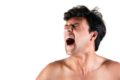 Angry Indian man screaming Royalty Free Stock Image