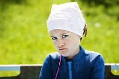 Angry Injury Girl stock photos
