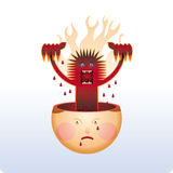 Angry inside stock illustration