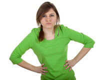 Angry, irritated young woman Royalty Free Stock Image