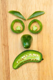 Angry Jalapeno Face Royalty Free Stock Photos