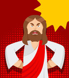 Angry Jesus. Jesus is not satisfied. Angered by Jesus Christ. Stock Photography