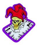 Angry joker on poker card Stock Image