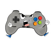 Angry joystick cartoon Royalty Free Stock Image