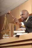 Angry judge stock photos