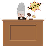 Angry judge Royalty Free Stock Photos