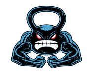 Angry kettlebell Royalty Free Stock Photos