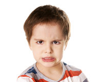 Angry kid Stock Photo
