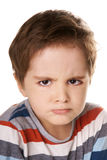 Angry kid Royalty Free Stock Photos