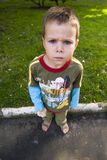 Angry kid Royalty Free Stock Image