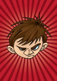 Angry Kid vector illustration