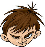 Angry Kid. Boy looking a little annoyed Royalty Free Stock Photo