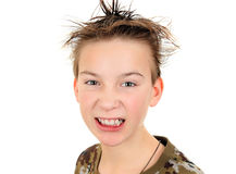 Angry Kid Portrait Royalty Free Stock Photos