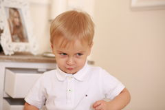 Angry kid Stock Photos