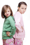 Angry kids Stock Photo