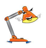 Angry lamp cartoon Royalty Free Stock Photography