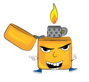 Angry lighter cartoon Royalty Free Stock Image