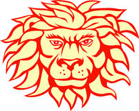 Angry Lion Big Cat Head Retro Stock Photo