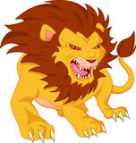 Angry lion cartoon Royalty Free Stock Images