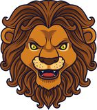 Angry lion head mascot royalty free illustration