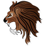Angry Lion head mascot Royalty Free Stock Photo