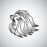 Angry Lion Head Roaring Logo Mascot Design Vector. Illustration Template Stock Photo