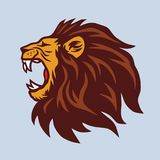 Angry Lion Mascot Vector Logo Stock Photo